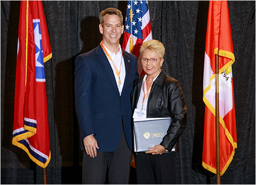 Dr. Chris Hass, UF Associate Provost for Academic Affairs, and Dr. Sherrilene Classen photo