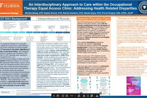 An interdiciplinary approach to care with the OT EAC