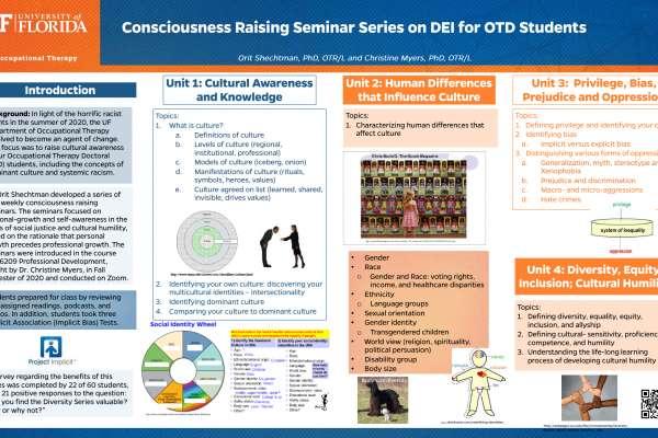 Consciousness Raising Seminar Series on DEI for OTD Students poster