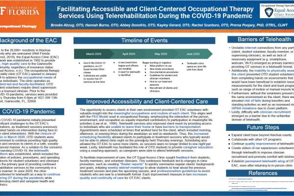 Facilitating Accessible and Client-Centered Occupational Therapy Services using Telerehabilitation