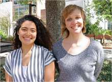 photo of Daniela Moreira and Dr. Amber Angell