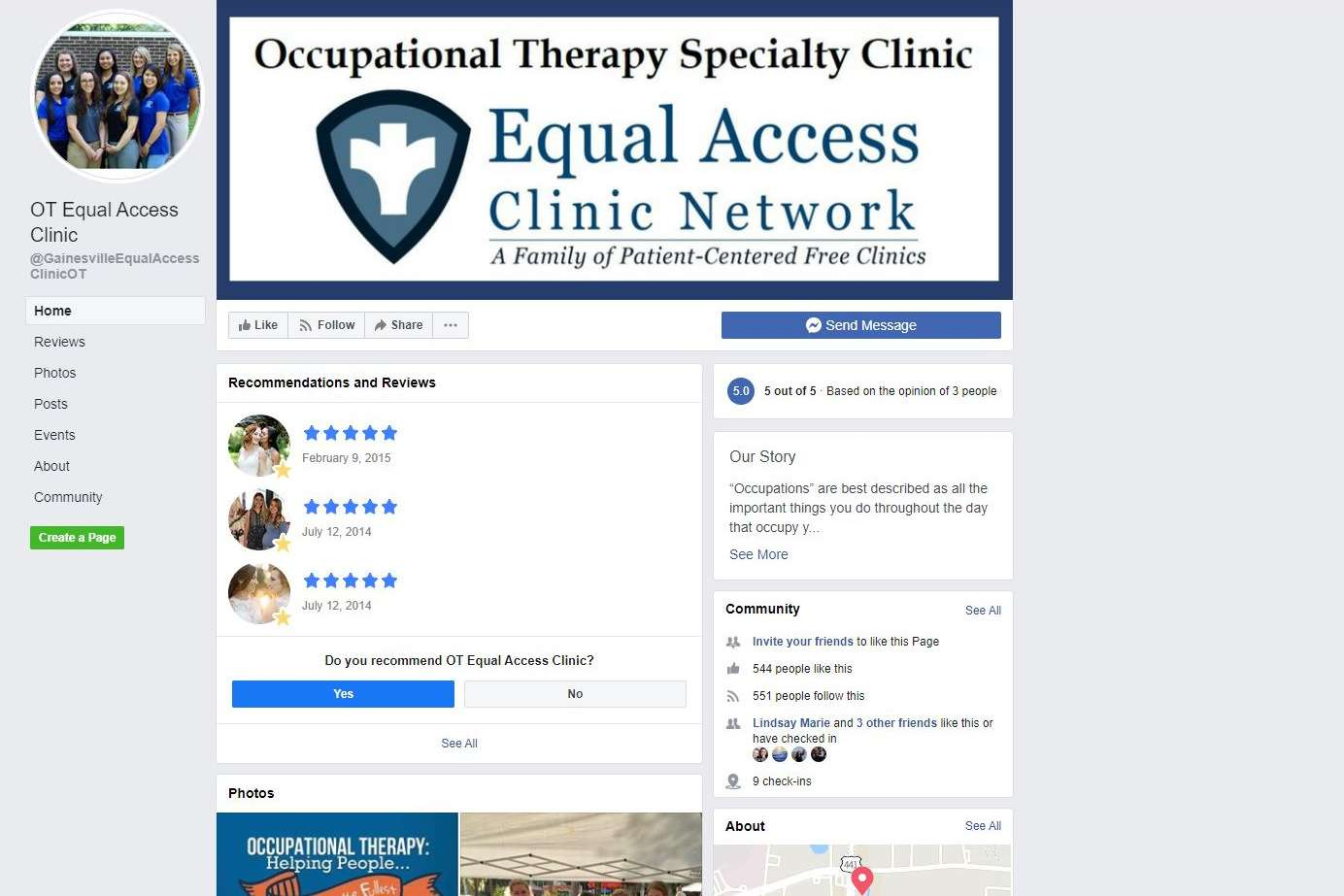 OT EAC Facebook page