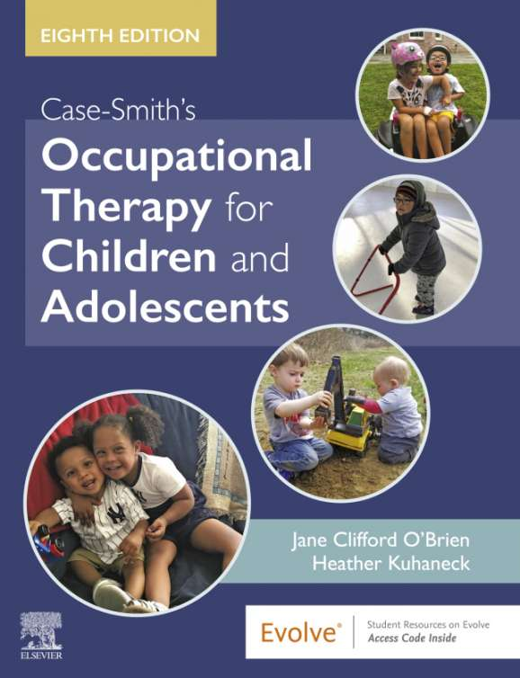 Case-Smith's Occupational Therapy for Children and Adolescents, 8th edition textbook cover