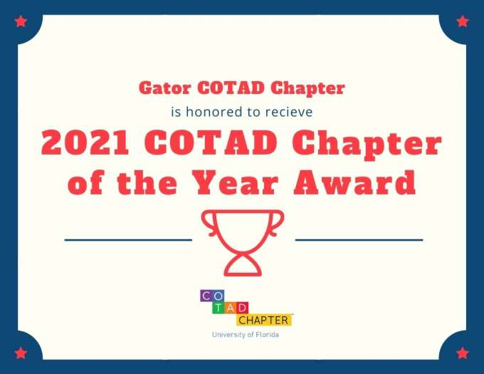 Gator COTAD 2021 Chapter of the Year Award